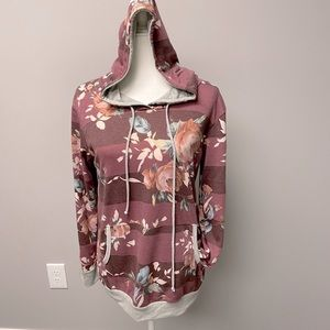 Spring Floral Hoodie Light Weight
